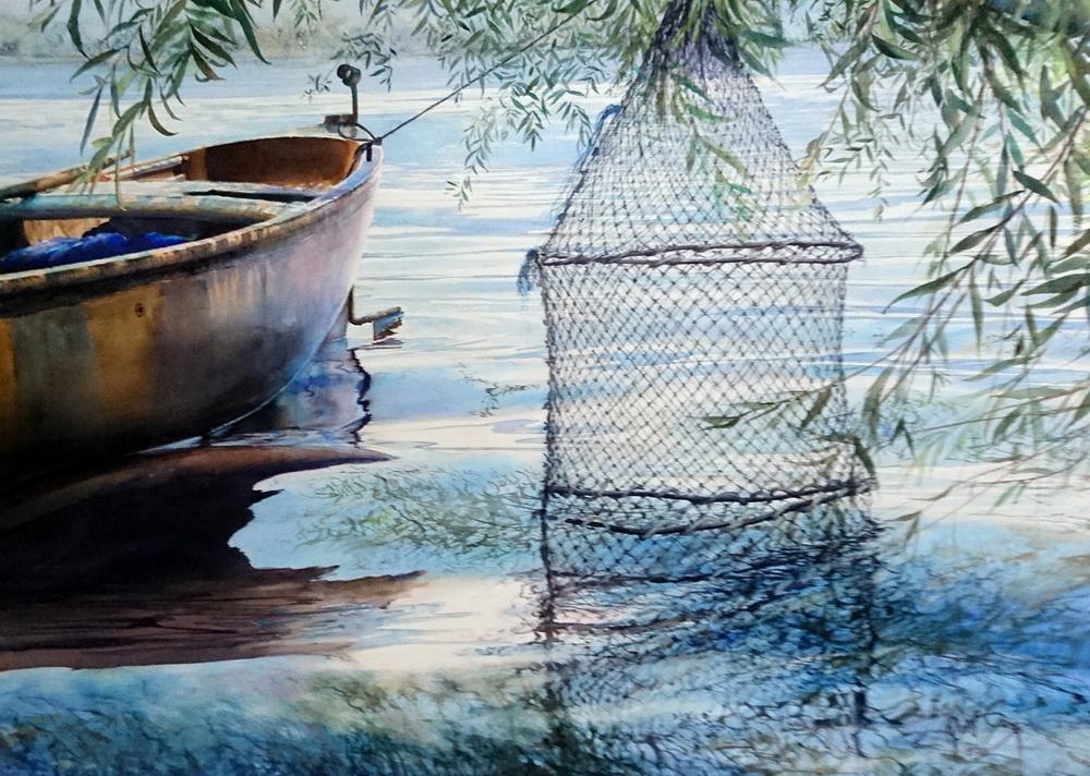 Как нарисовать воду акварелью поэтапно для начинающих